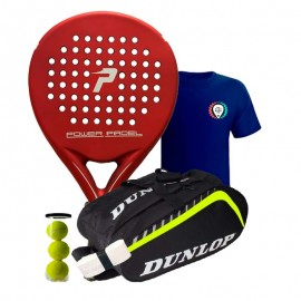 Pack Power Padel Red Mate + Paletero Dunlop Play