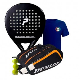 Pack Power Padel Black Mate + Paletero Dunlop Play