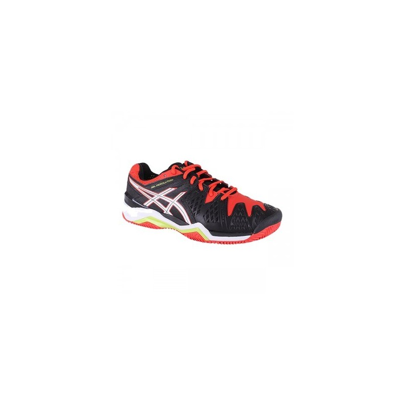 a44ebf2d1 Zapatillas 6 Asics Negro Clay de Gel padel Resolution 4XrFq4A